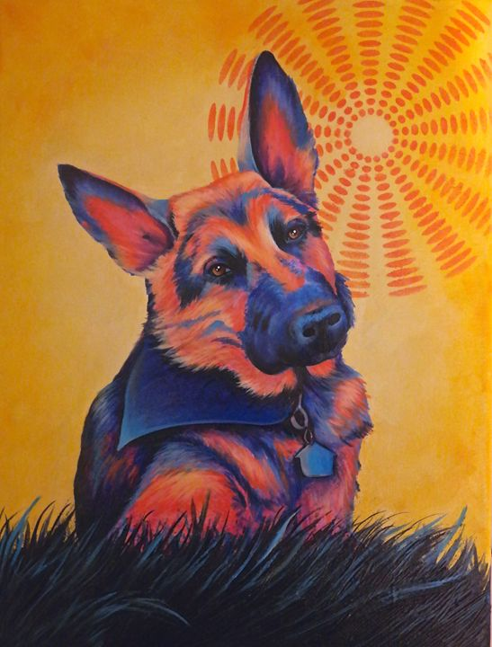 """""""Shepherd in the Sun"""" Randa Hitchner - Somewhere In Time Paint Mixers"""