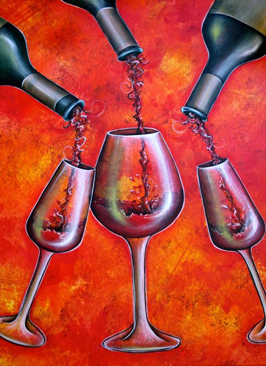 """""""Divine Wine"""" By: Randa Hitchner - Somewhere In Time Paint Mixers"""