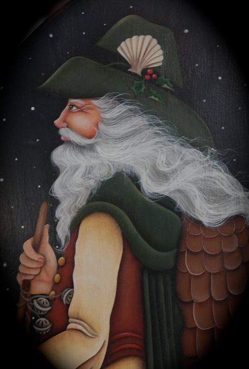 """""""Santa of the Sea""""By: Randa Hitchner - Somewhere In Time Paint Mixers"""