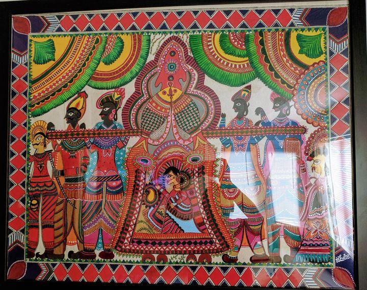 Traditional Indian wedding Doli art - Art by Ishh