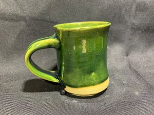 Green Cup-with handle
