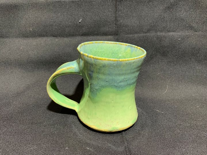 Bluegreen Cup - L.Dove Pottery