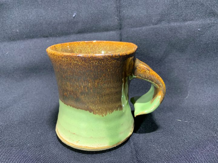 Brown Green Cup - L.Dove Pottery