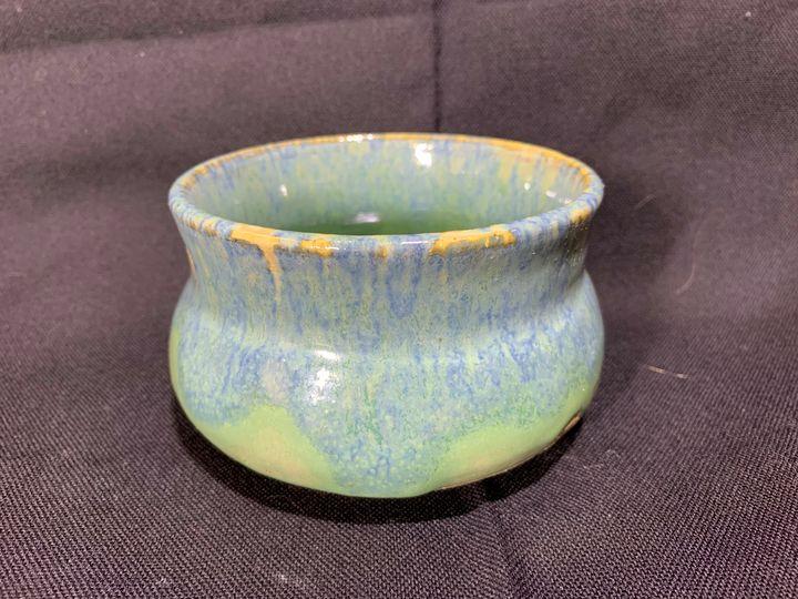 Blue Green Pot Belly - L.Dove Pottery