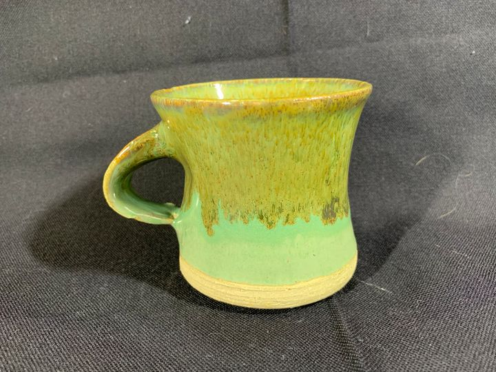 Light Brown Green Cup - L.Dove Pottery