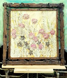 """""""Flowers In The Field"""" Painting"""