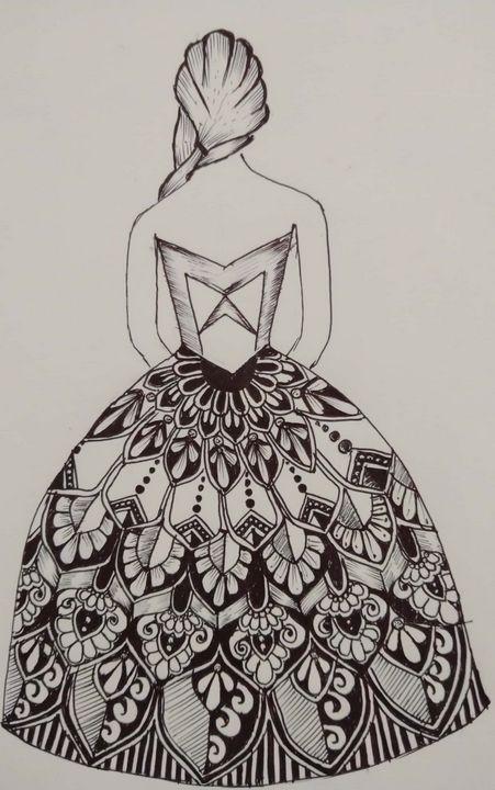 A girl dressed up in mandala - Free soul