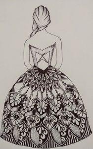 A girl dressed up in mandala