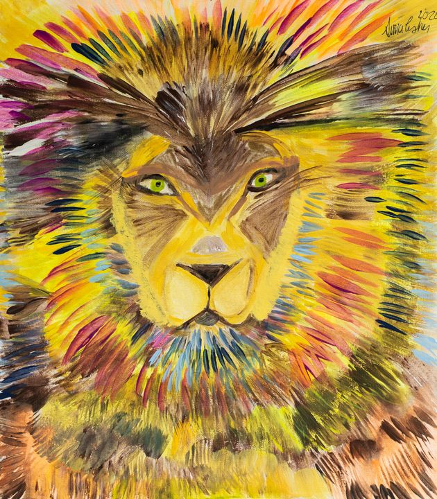 Rainbow Lion - Sima Fisher