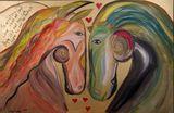Horses In Love Original Painting