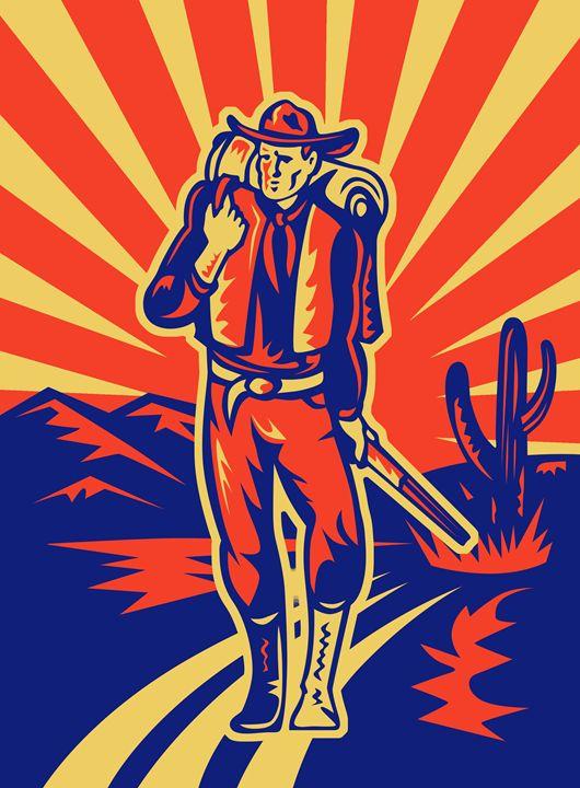 Cowboy walking - DigitArt