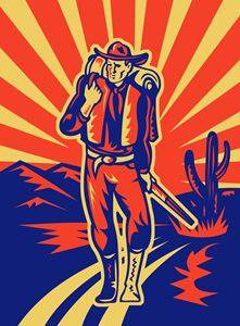 Cowboy walking