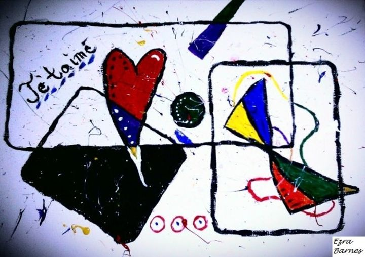 Abstract Love - Ezra's Contemporary Art