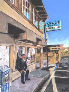 Davenport, CA , OutsideArro's Market - Susan Brown Fine Art