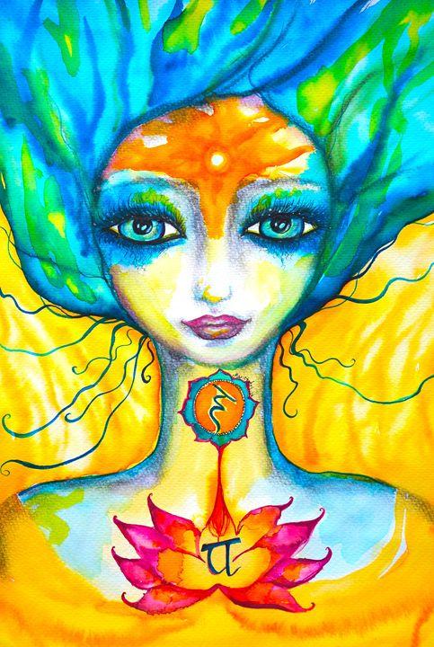 OM Yellow mermaid - Marley Art