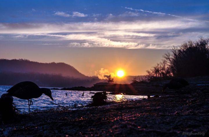 Sunset on Lake - Pandemonium Gallery