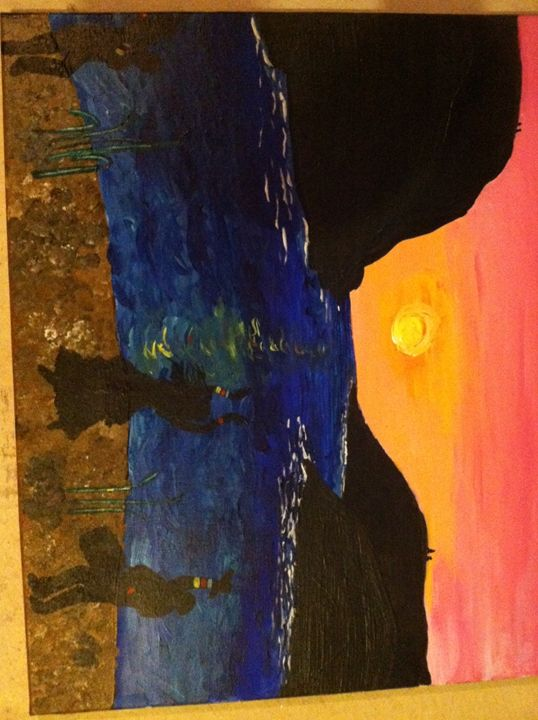 A Sunset Dance on the Sand - AlixBird