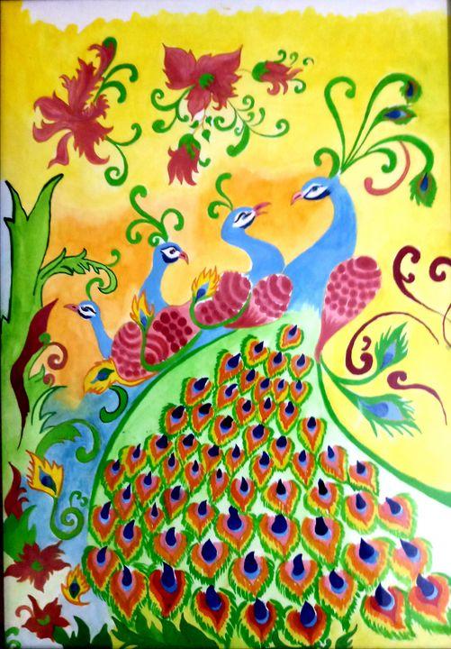 peacock designs - Nikita