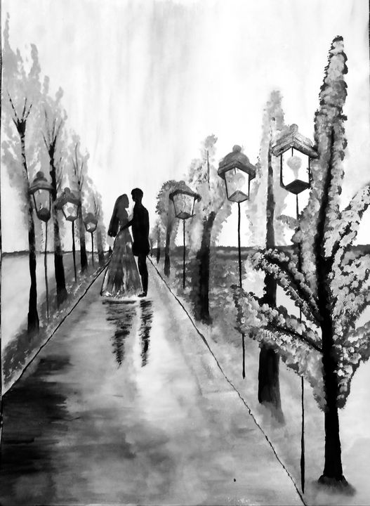 Shaded Spring Love Painting - Nikita