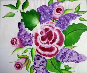 Beautiful Rose Flower shading