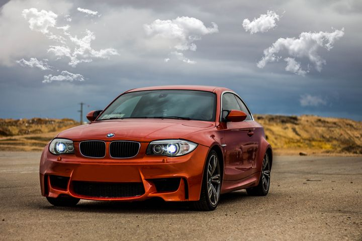 BMW on the race track - photo land