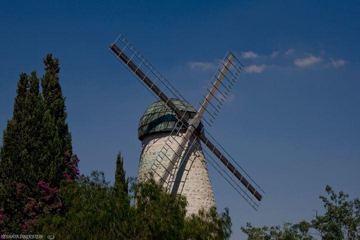 Old Windmill in Jerusalem - photo land