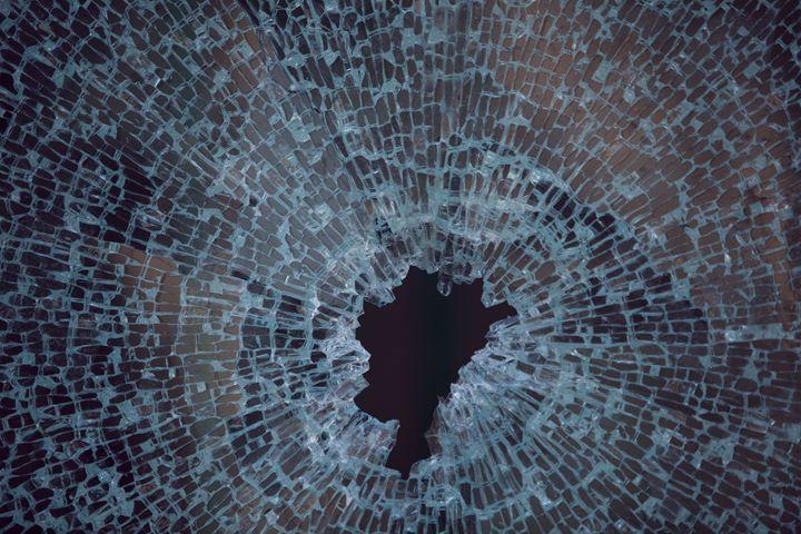 Shattered glass Window - photo land