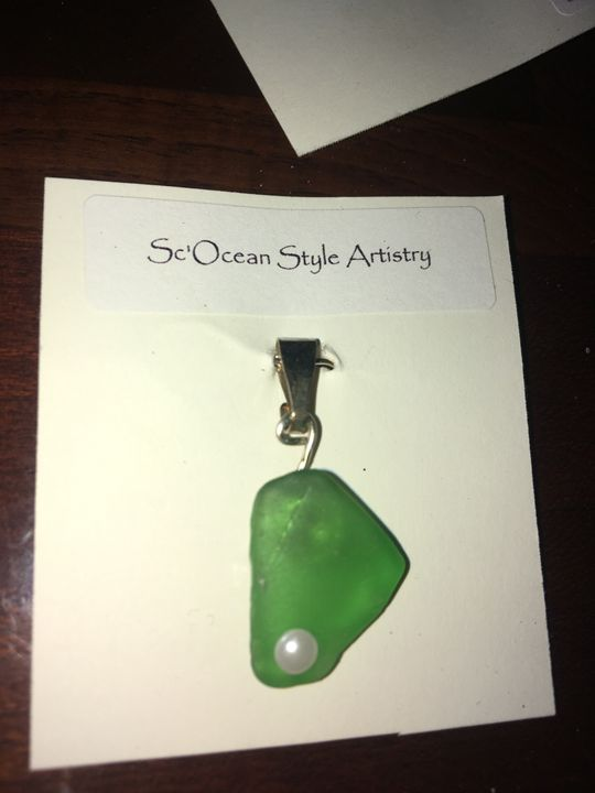 Sea Glass Pendant - Sc'Ocean Art
