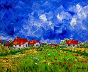 Rural landscape. France