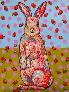 Another rabbit and strawberries