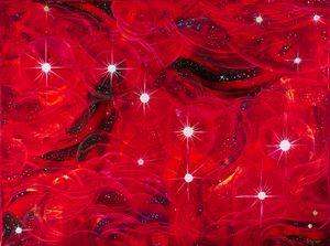 Big Dipper In Red Space