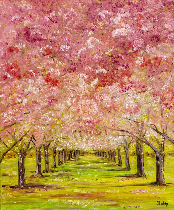 Blooming Cherry Alley - Natalia Shchipakina