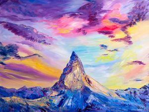 Mountain Matterhorn. Alps