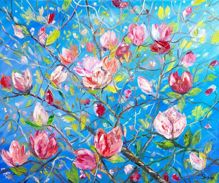 Blooming Magnolia. Catalan Village - Natalia Shchipakina
