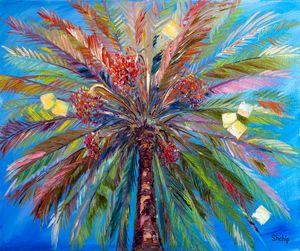 Date Palm. Summer. Costa Brava