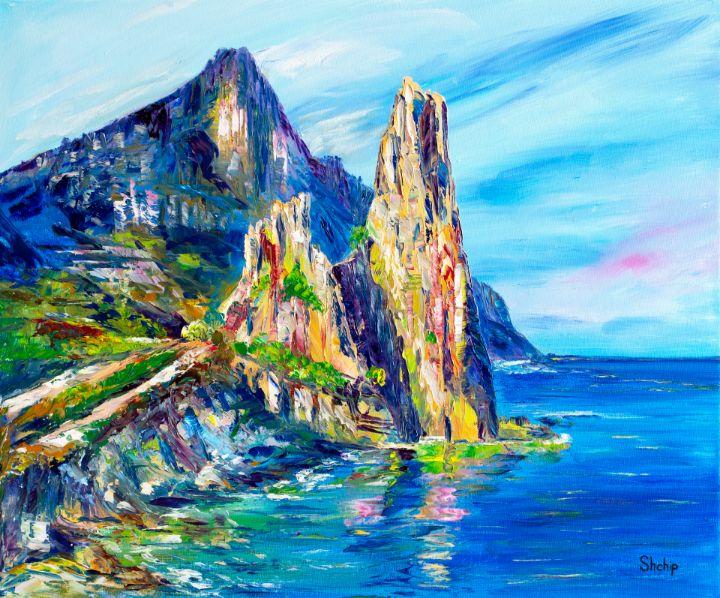 Rocks by The Sea. Italy - Natalia Shchipakina
