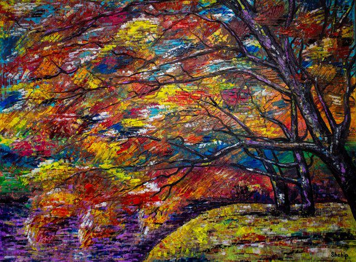 Japan. Autumn maples - Natalia Shchipakina