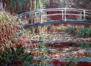 Monet Bridge over a pond - Nice Gallery