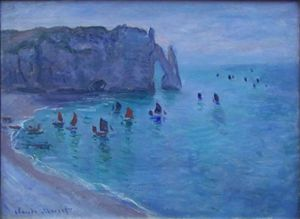 Monet - Étretat, la Porte d'Aval
