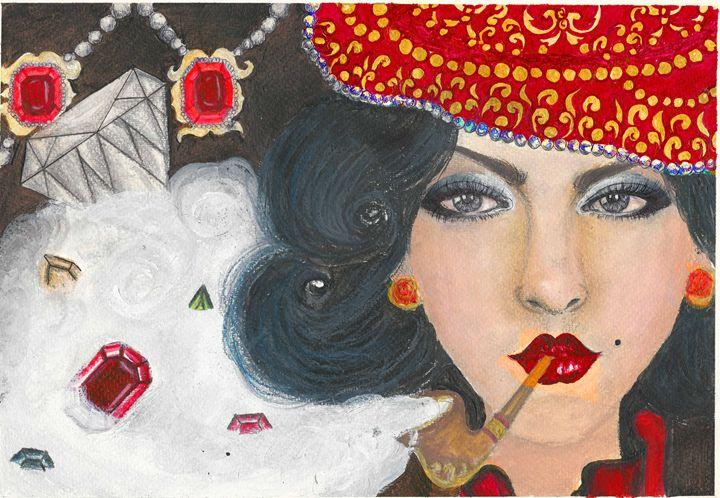 Girl Smoking a pipe - Nice Gallery