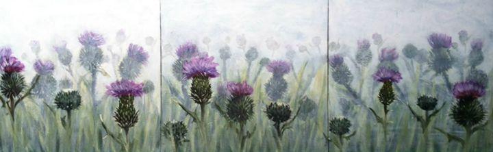 Thistles in a Field - Elaine Nardini-Harris