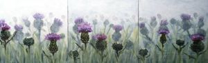 Thistles in a Field