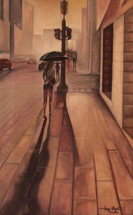Hamra Street Beirut - George Khayat Art