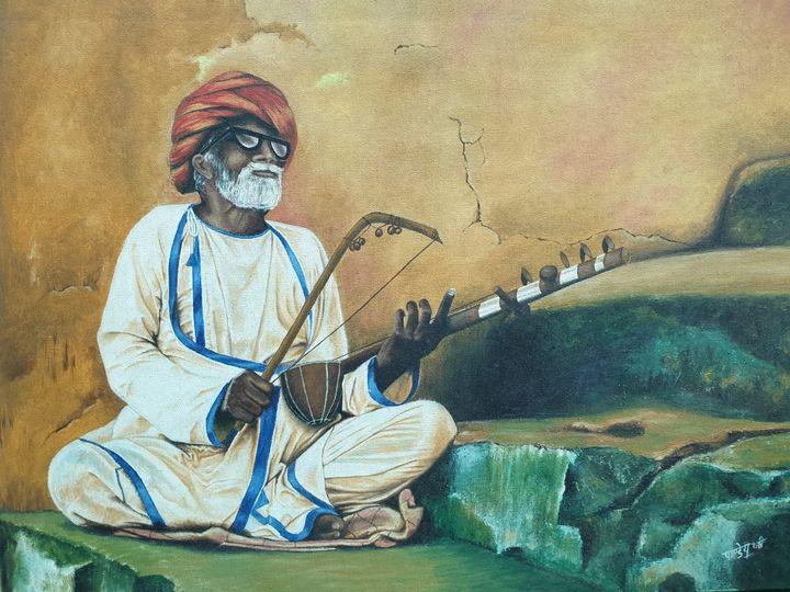 rajasthani chacha, rajasthani cultur - pradeep pandey art gallery