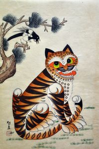 Tiger painting koreanstyle - Pogoby