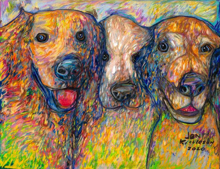 Bella, Sequoia, and Kirby. - Jon Kittleson Portrait Artist