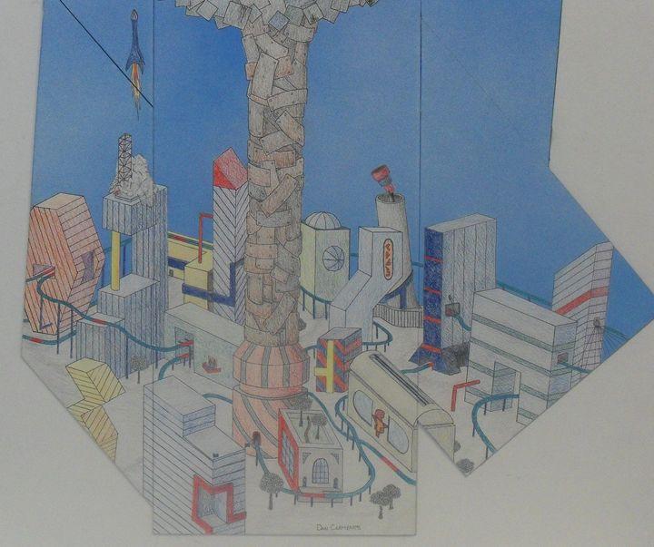 Future City (closeup) - Clements Creations