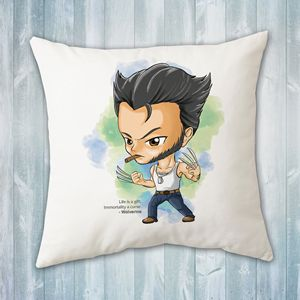 Chibi (Cute) Wolverine Pillow
