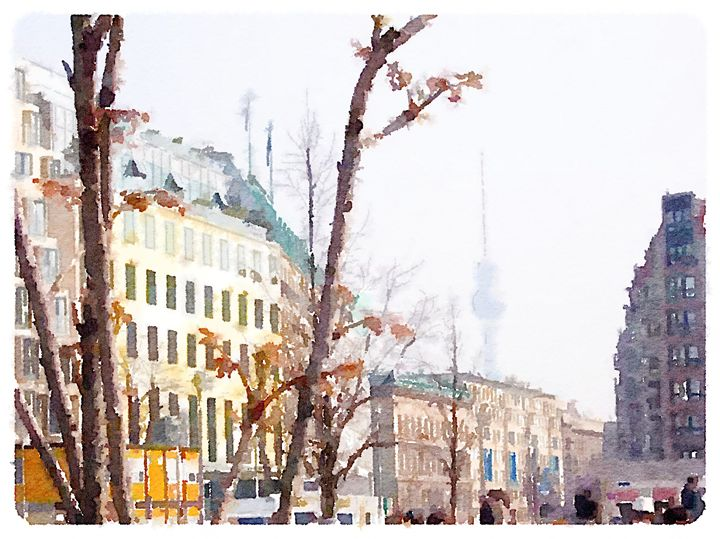 Berlin Skyline - Merlin Watercolors