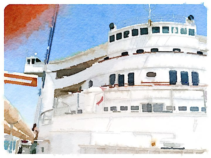 RMS Queen Mary - Merlin Watercolors
